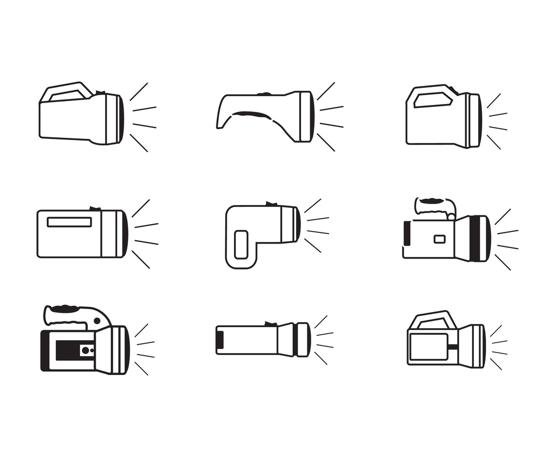 Flashlight line icon