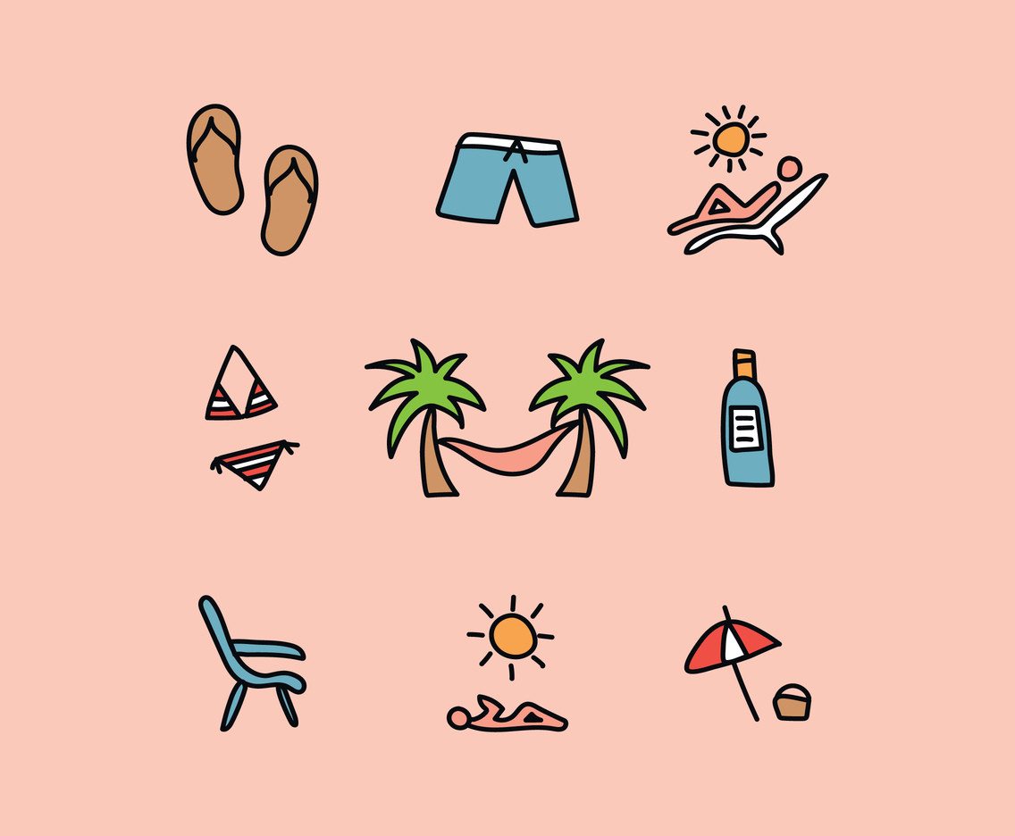 Relaxing On The Beach Vectors