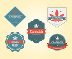 Cannabis Badge Vector Pack