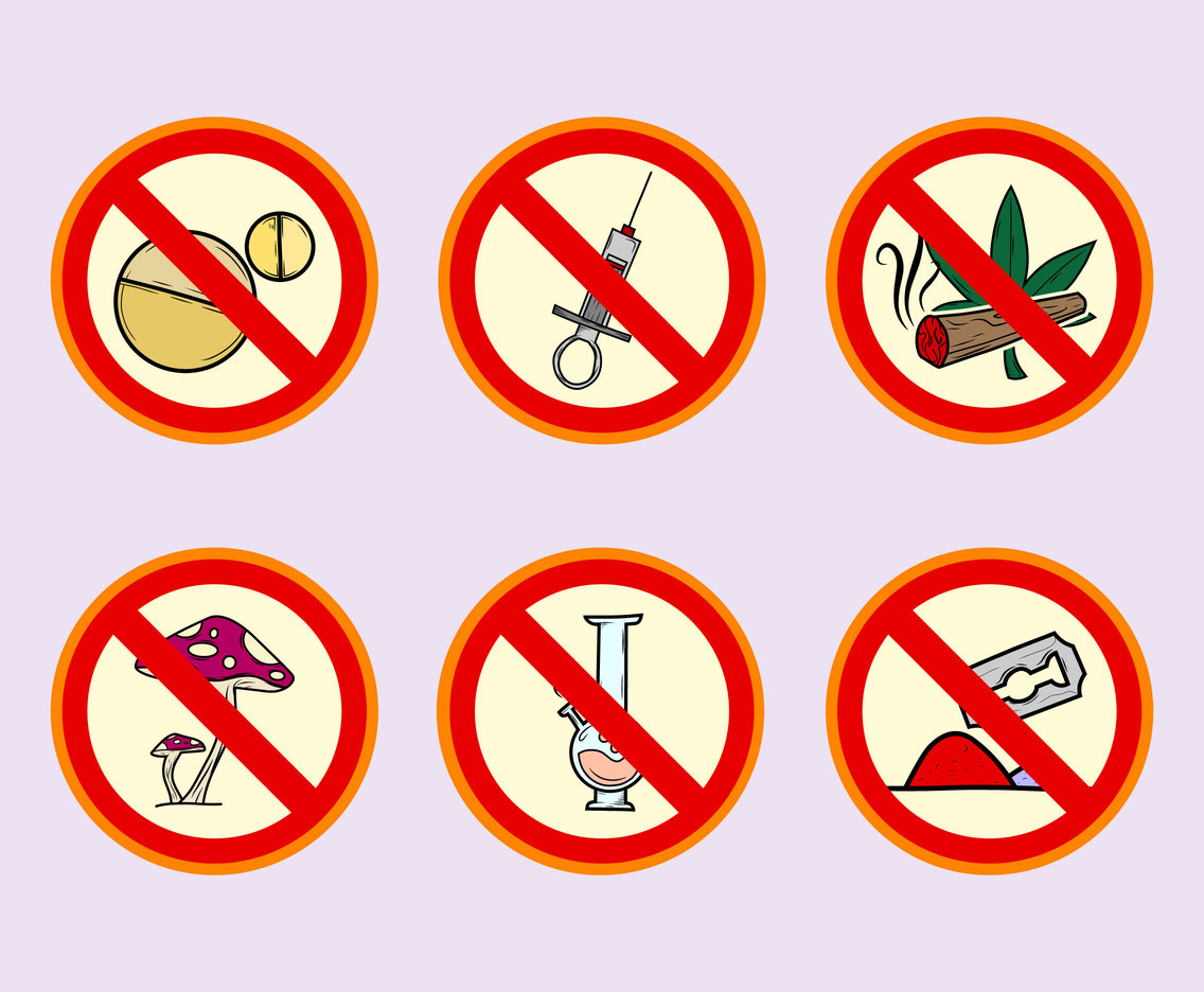 No Drugs Campaign Vector