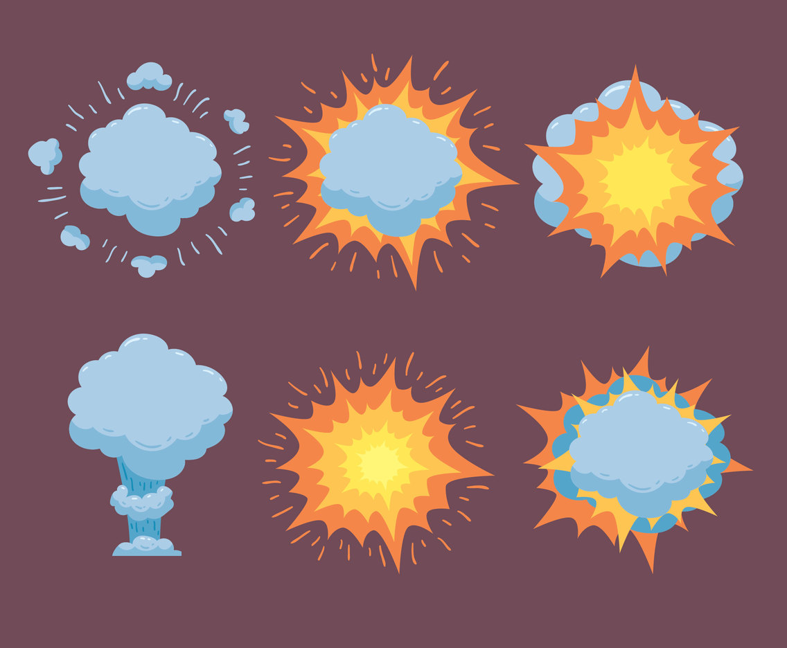 Great Blast Collection Vector