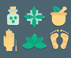 Hand And Feet Therapy Element Vector