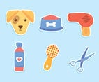 Great Dog Grooming Element Vector