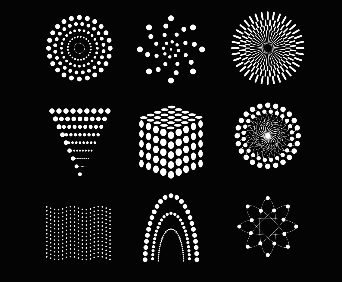 Abstract Particles Icon Vector