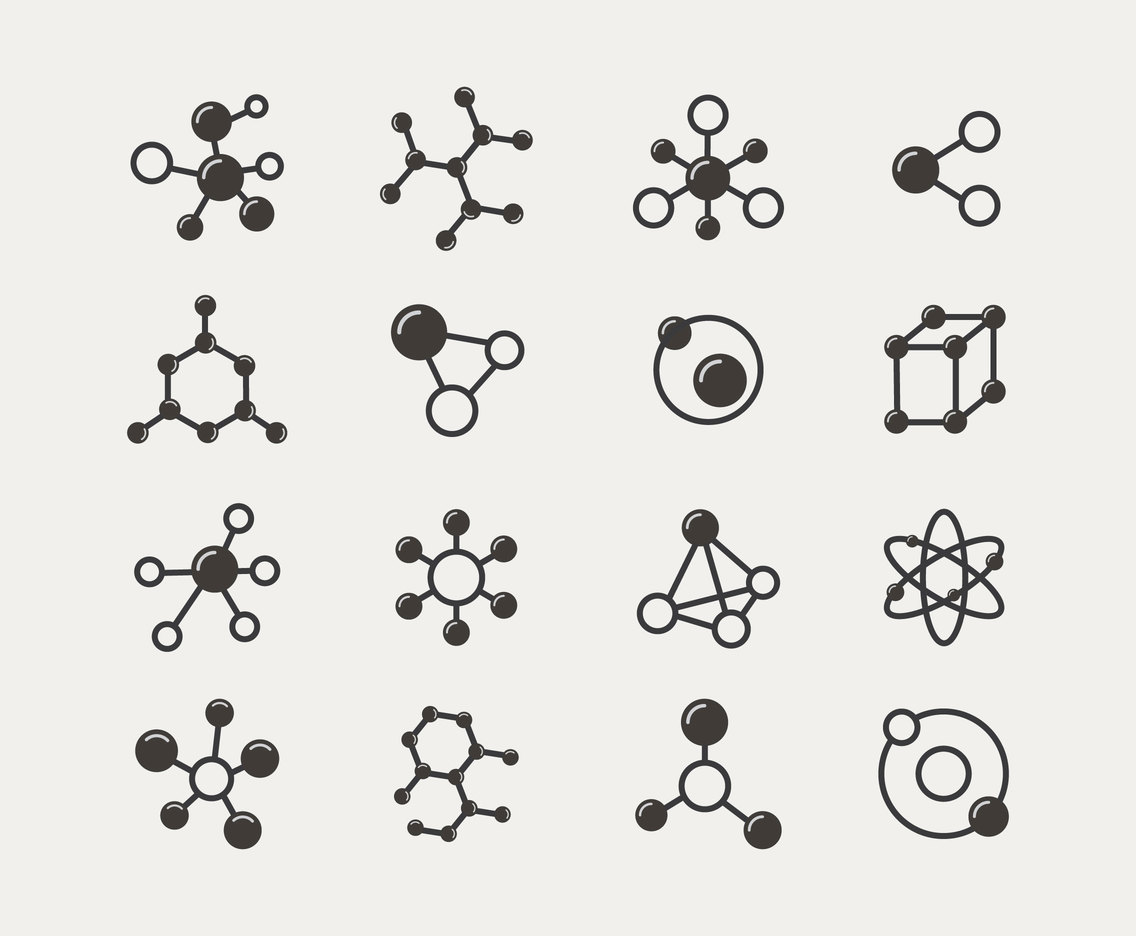 Particles Molecules Icon Set