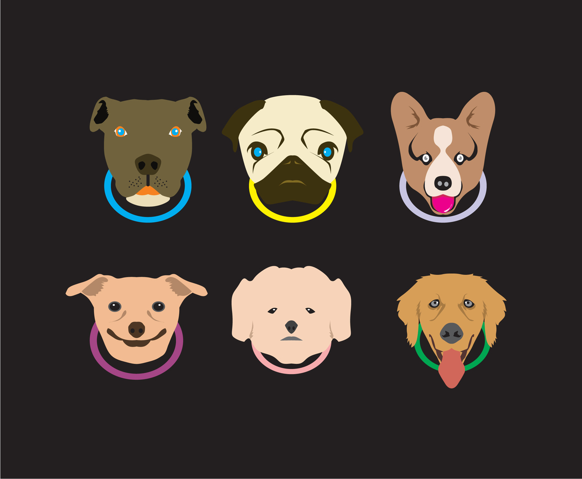 Various Dogs Vector