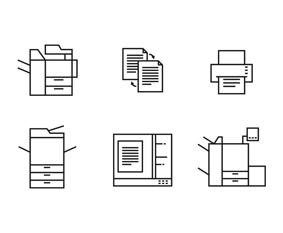 Copier Outline Icon Vector