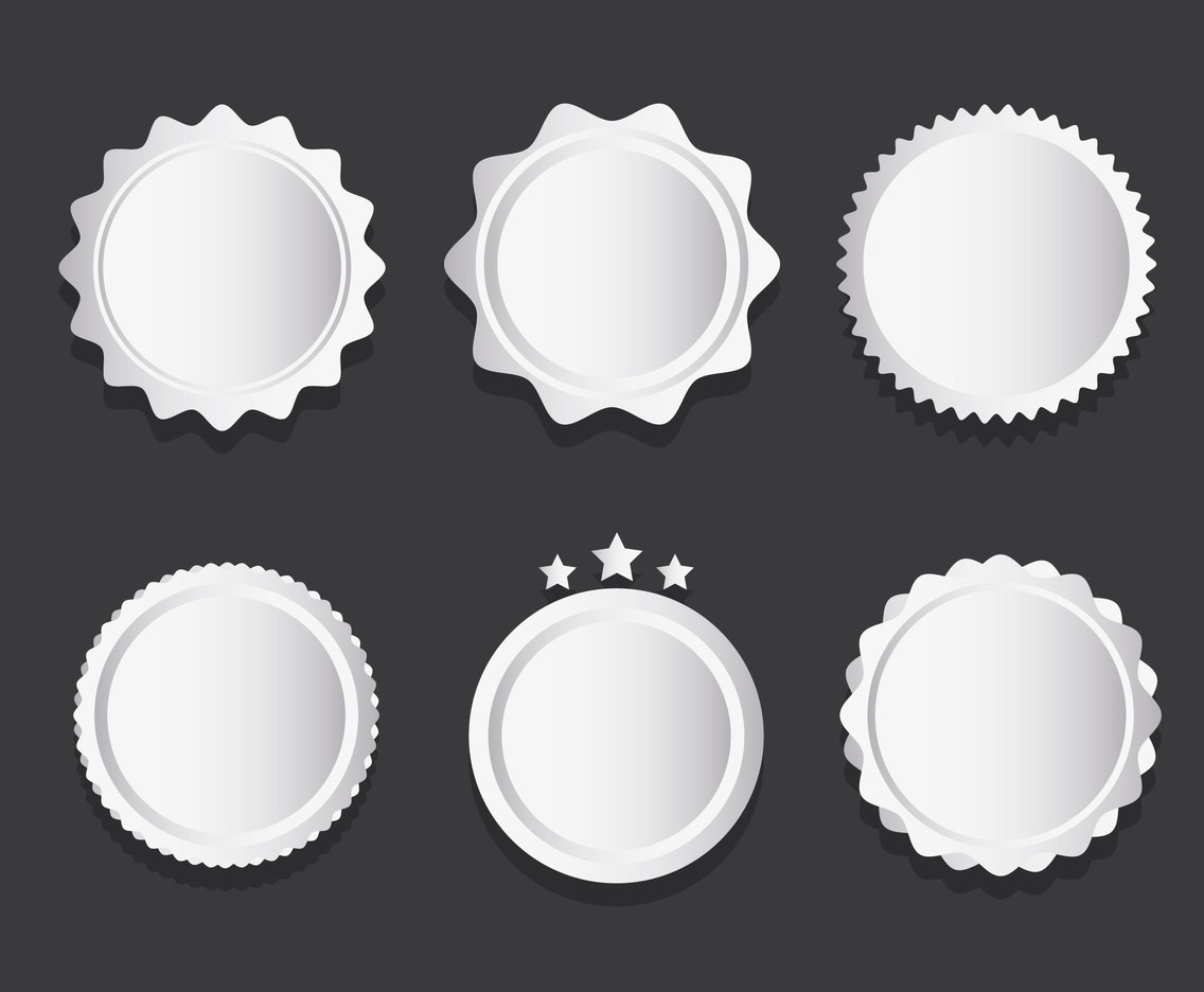 Silver Platinum Badge Vector