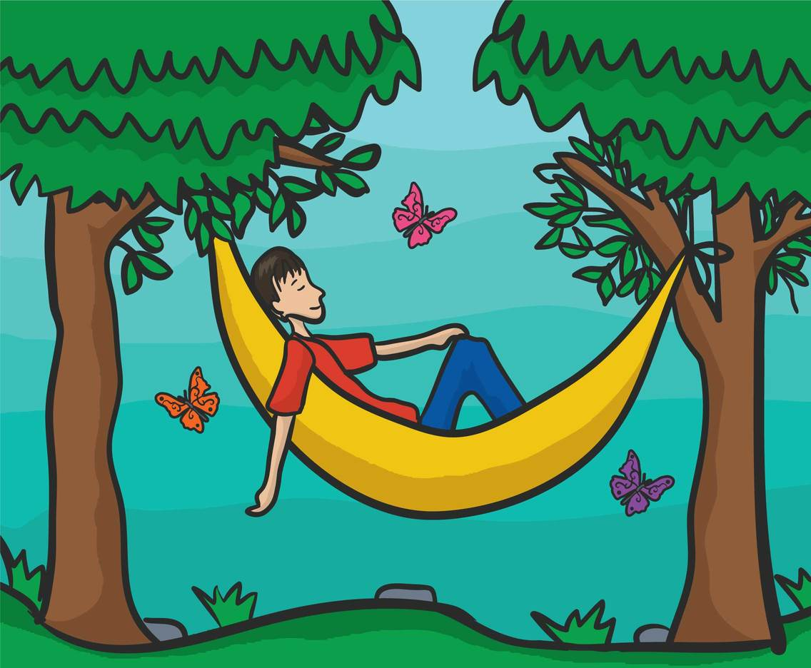Hammock illustration vector