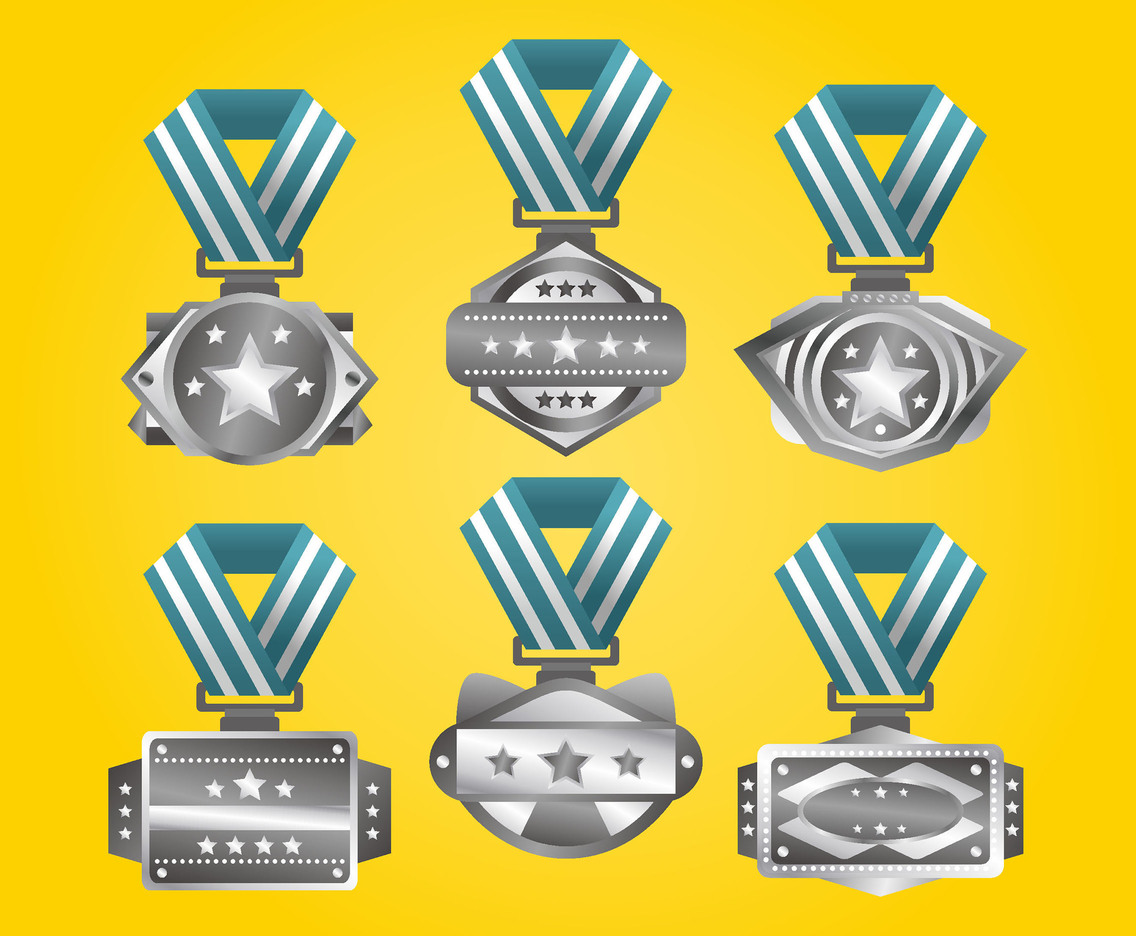 Platinum Medals Vector Pack