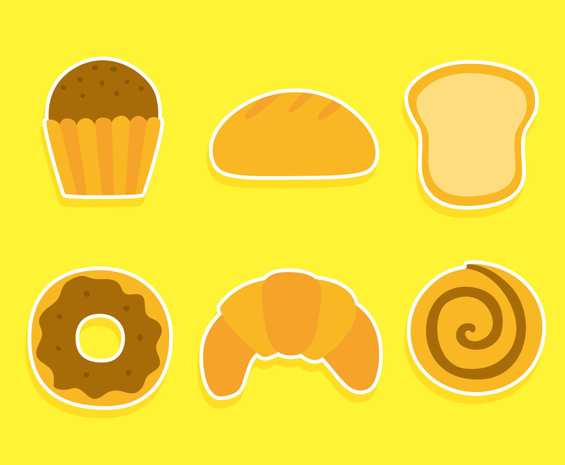 Nice Variation Bread Collection Vector