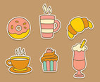 Coffee And Cake Collection Vector