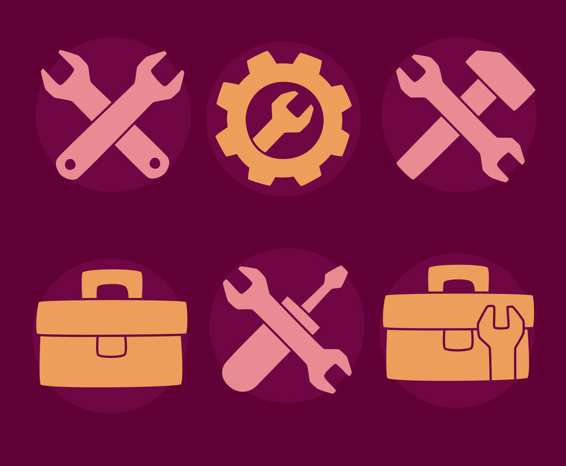 Toolbox Icons Vectors