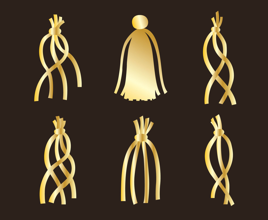 Golden Tassel Vector