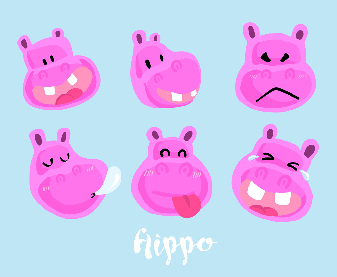 Hippo Vector Pack