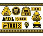Taxi Icons and Sign Set