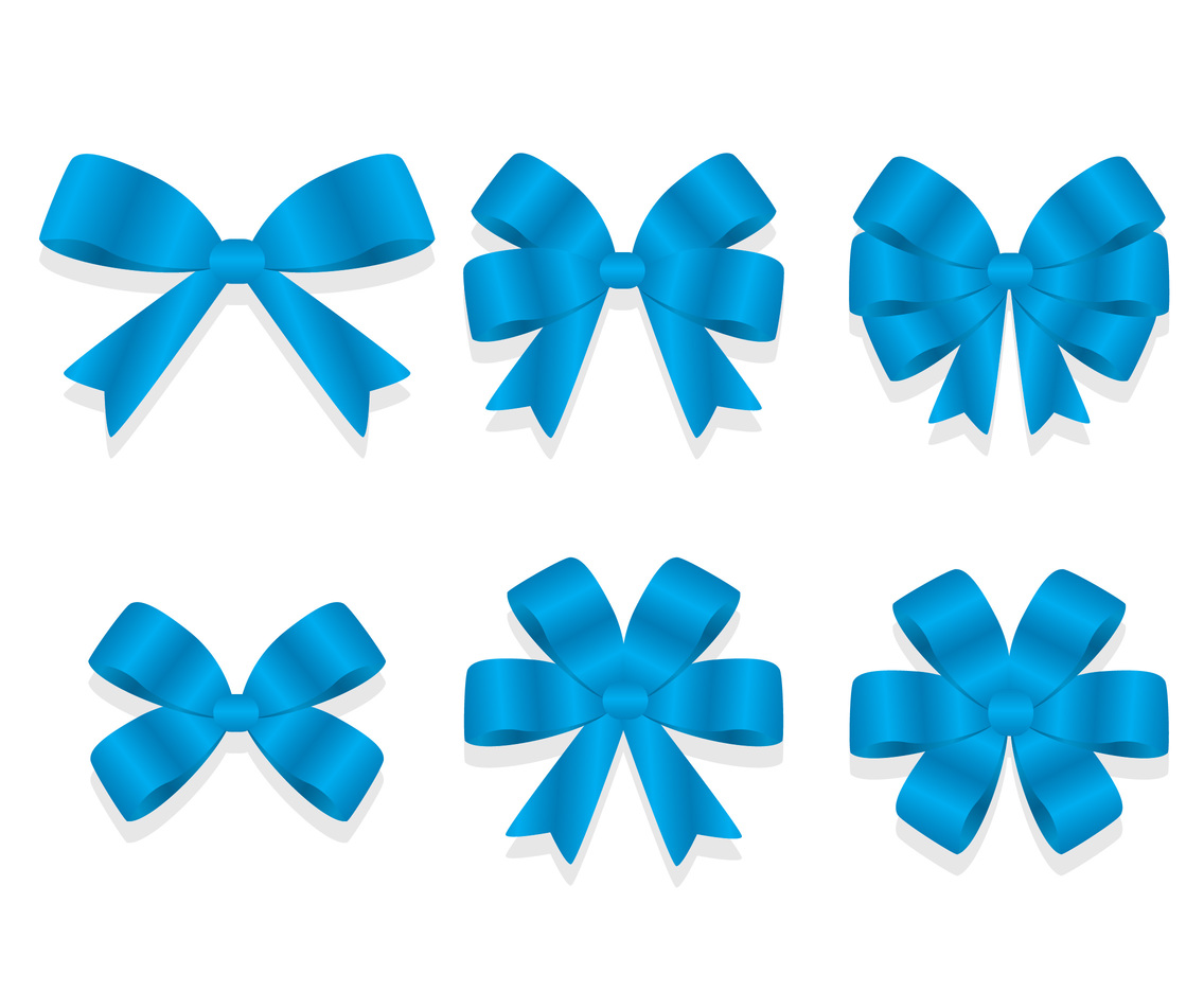 Blue Gift Silk Ribbon Vector