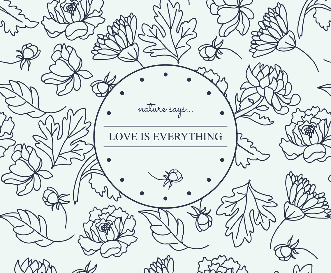 Chrysanthemum Pattern With Lovely Message