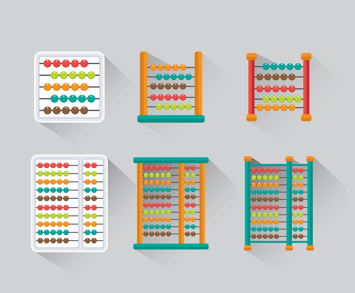 Abacus flat vector