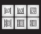 Abacus icon set