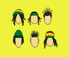 Cool Dreadlocks Style Vector