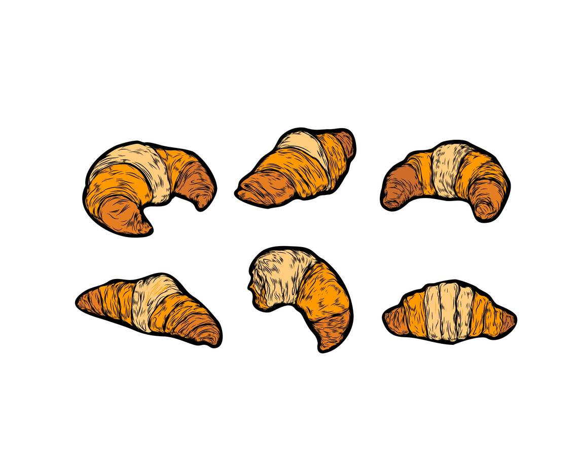 Isolated Croissant Vector
