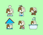 Dog Grooming and Care Vector
