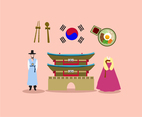 Korea Culture Vector