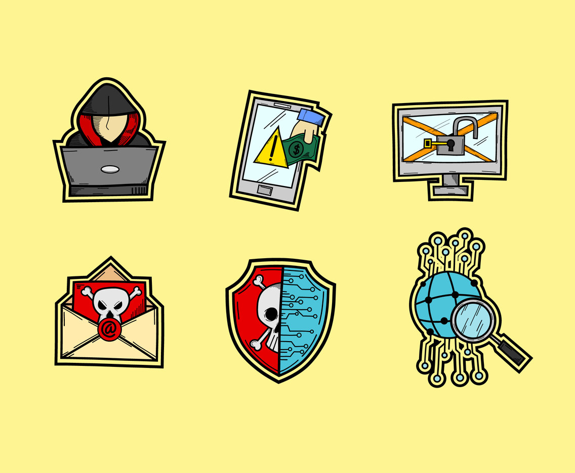 Sketchy Cyber Activity Icons