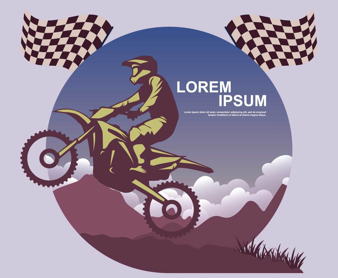 Free Motocross Race Illustration