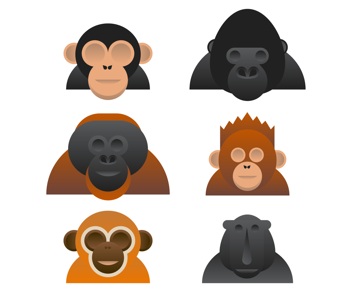 Cool Ape Vector
