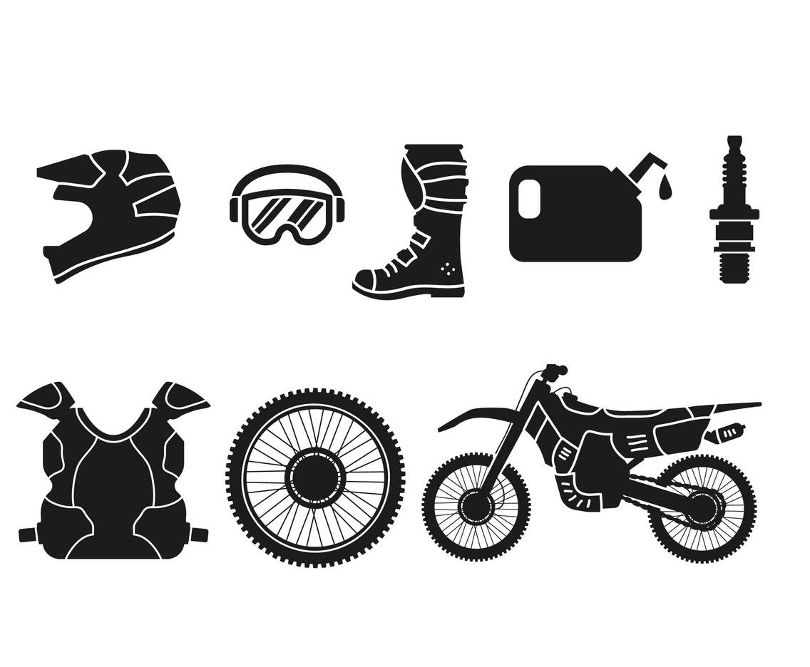 Motocross vector set