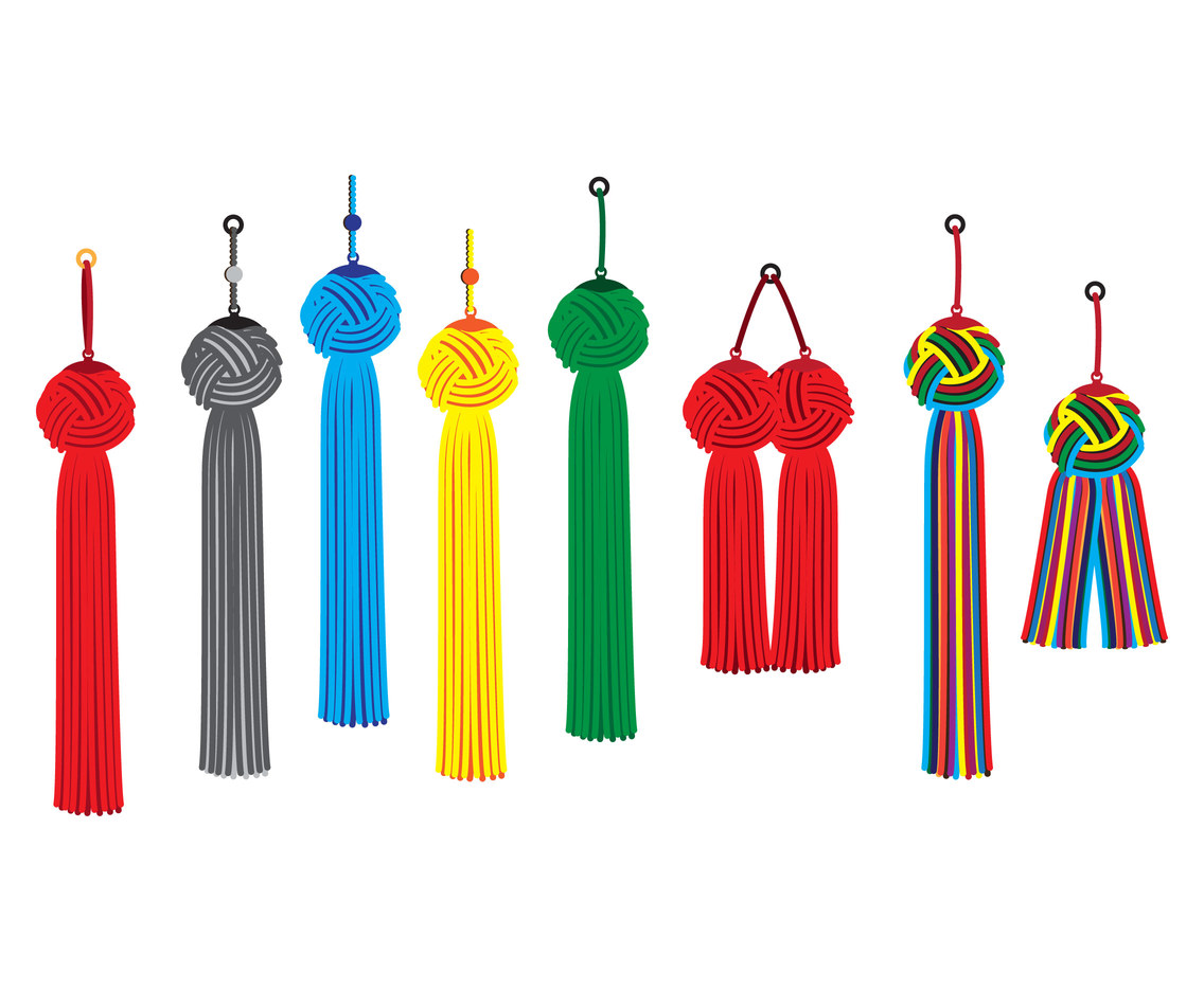 Ornaments of tassels