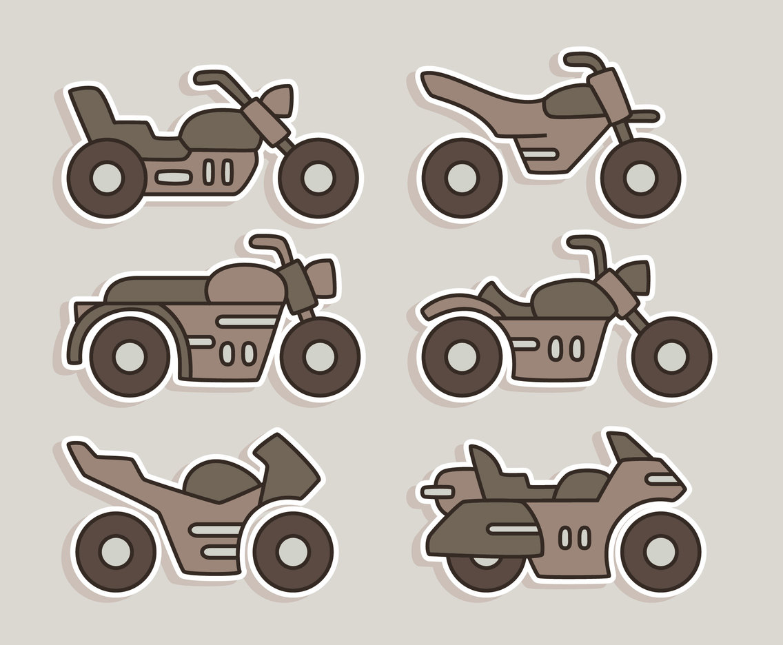 Motocycle Icons Vector