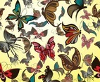 Butterflies Vector Pattern
