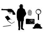 Flat Silhouette Spy Icon