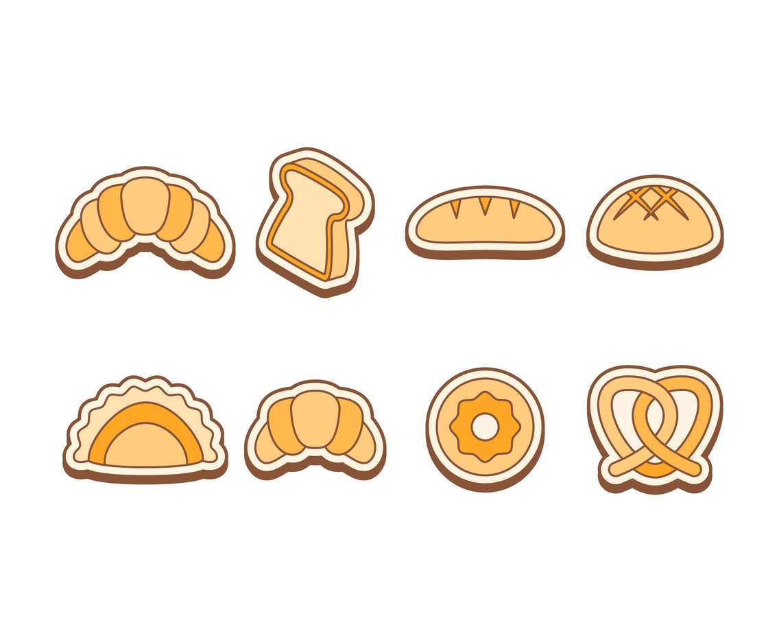 Free Outstanding Bakery Bread Vectors