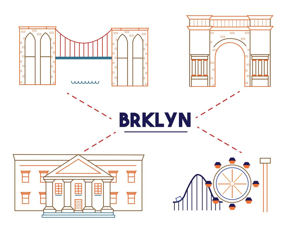 Brooklyn Iconic Building Vector Pack