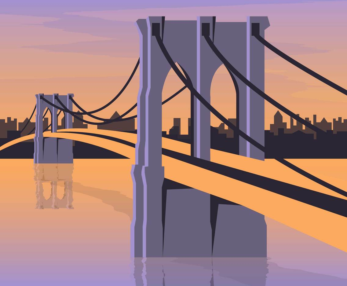 Brooklyn Bridge Illustration Vector 2