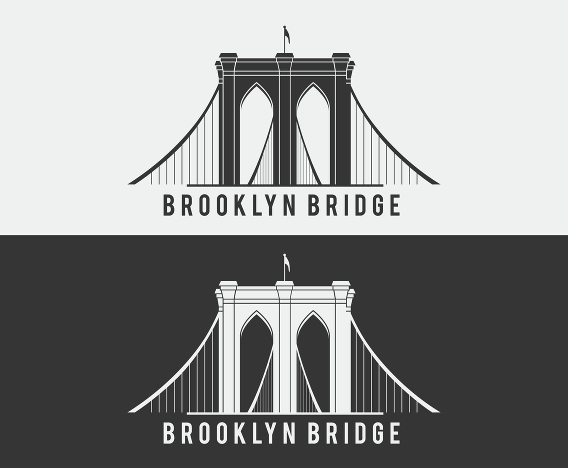 Brooklyn Bridge Vector Icon