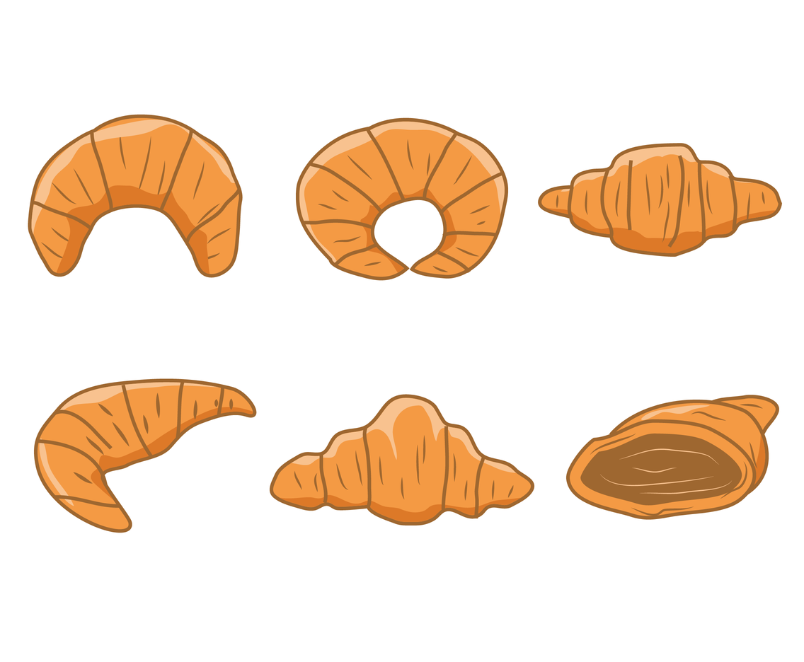 Hand Drawn Croissant Vector