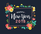 Cute Floral New Year Greeting