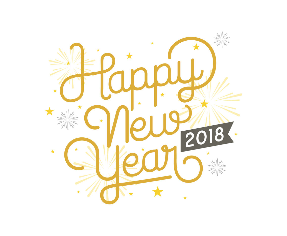 happy new year 2018 greeting card vector art graphics freevectorcom
