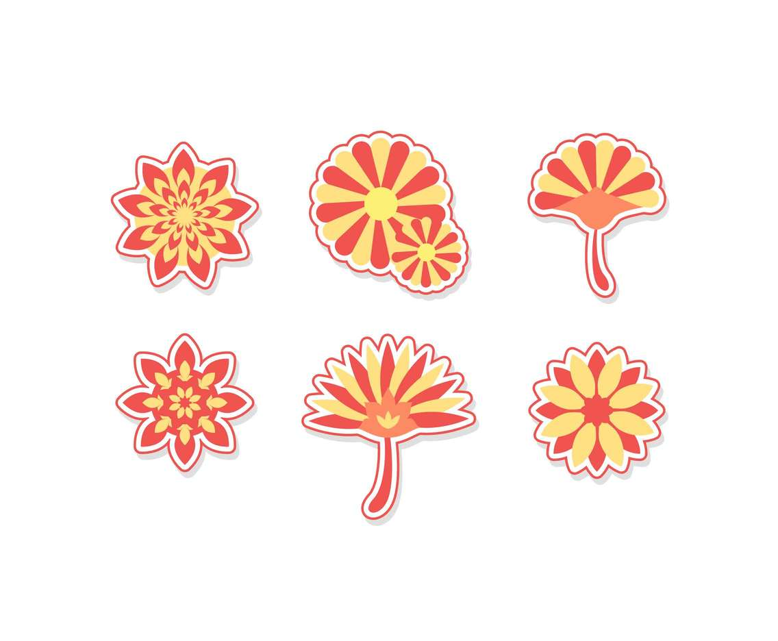Free Beautiful Chrysanthemum Flowers Vectors