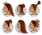 Dreadlocks Vector Pack