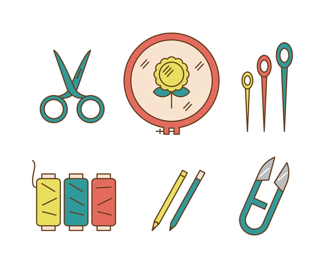 Embroidery Tools Vector