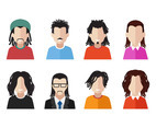 Vector Avatars with Dreadlocks