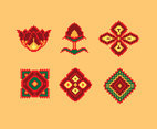 Embroidery Decorative Element Vector