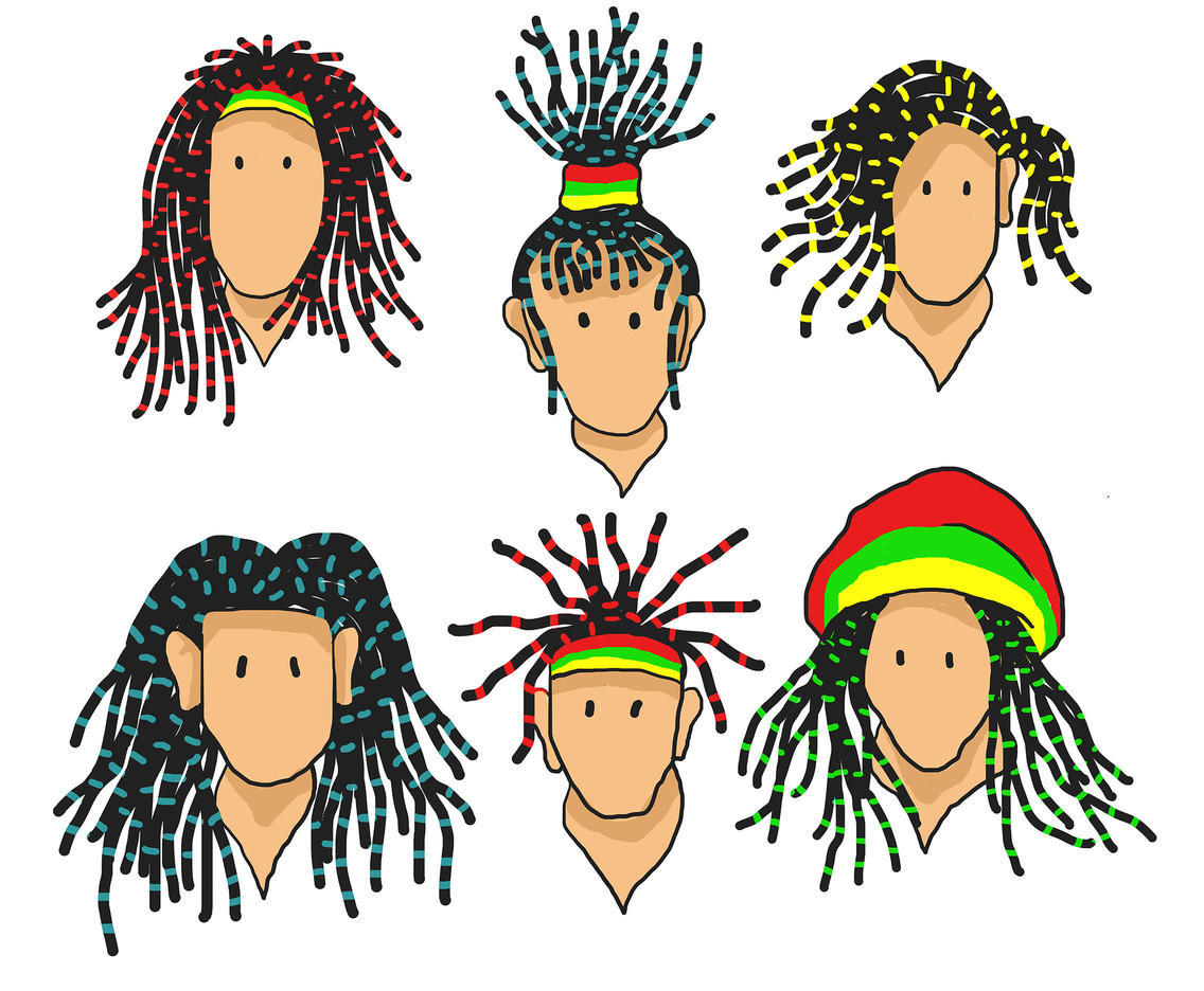 Dreadlocks Vector Set