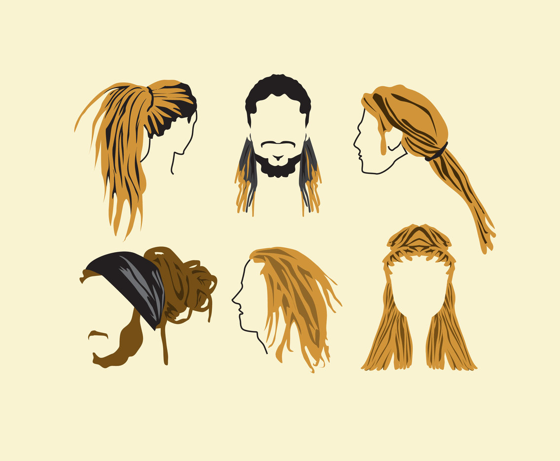 funky rockstar hairstyles vector vector art & graphics | freevector
